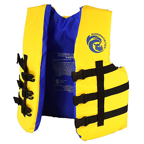 Youth Life Vest for Watersports (Yellow) - USCG Approved Type III