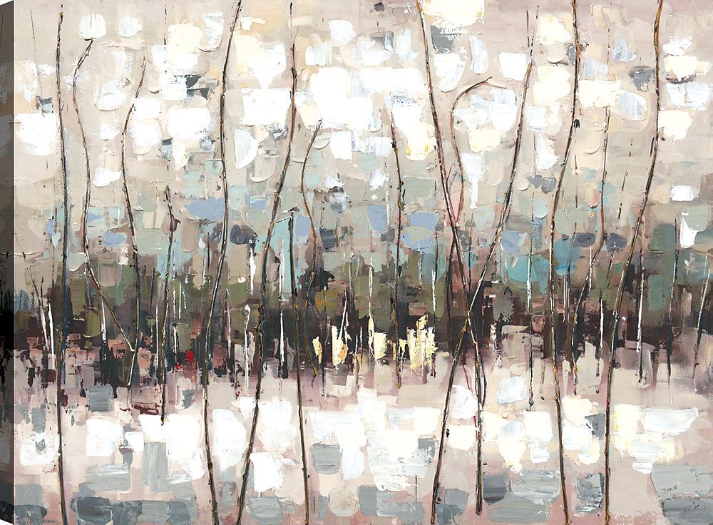 Abstrait coloré je, Art abstrait, Art mur de toile impression 30 X 40 prêts à accrocher par ArtMaison.ca