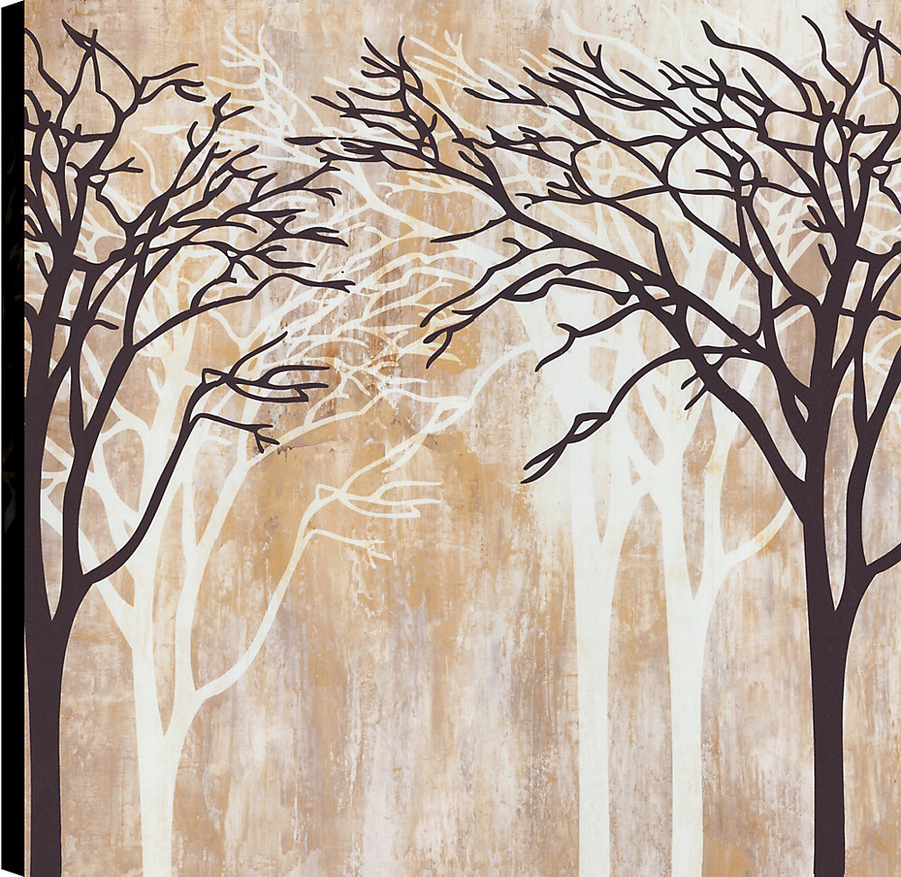 Trees Branches I, Landscape Art, Canvas Print Wall Art 24X24 Ready to hang by ArtMaison.ca