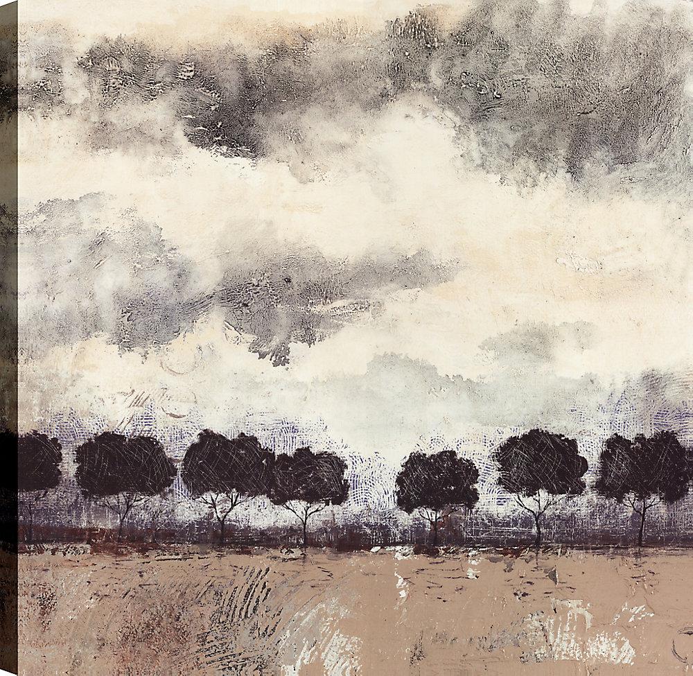 Paysage Ile j'ai, Art du paysage, Art mur de toile imprimé 24 X 24 prêt à accrocher par ArtMaison.ca
