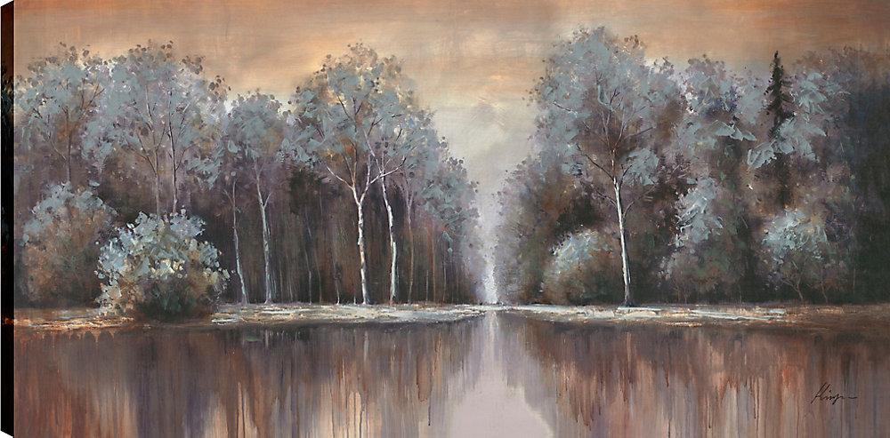 Old Tree Lane II, Art du paysage, Art mur de toile impression 30 X 60 prêt à accrocher par ArtMaison.ca