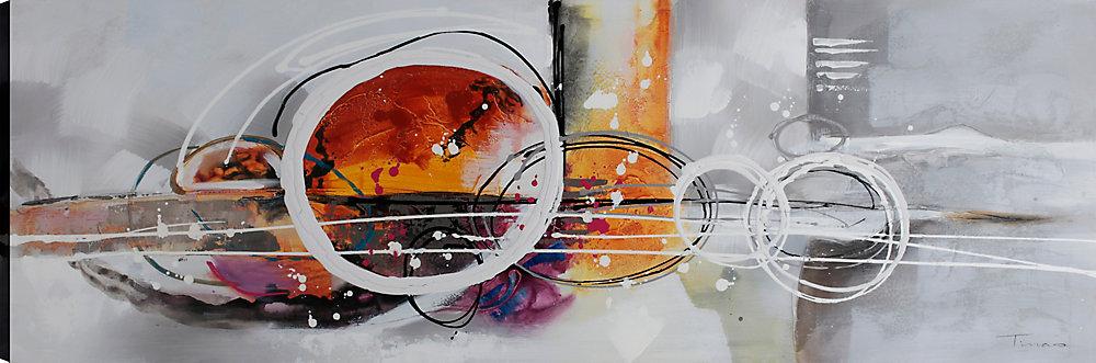 Abstrait jusqu'à II, Art abstrait, Art mur de toile impression 20 X 60 prêt à accrocher par ArtMaison.ca