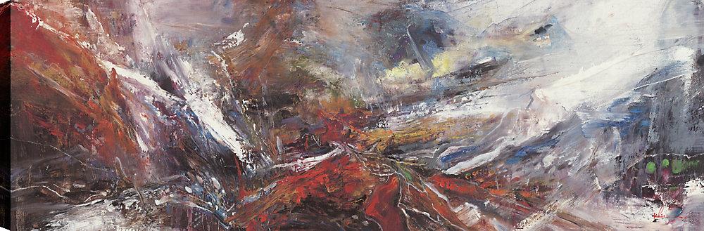 Mountains I, Landscape Art, Impression murale sur toile 20X60 prête à accrocher par ArtMaison.ca