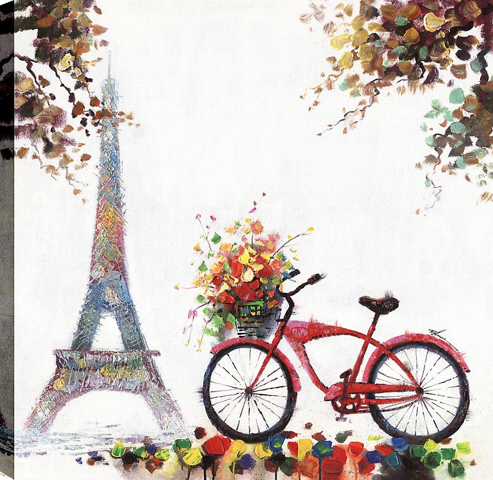 Eiffel I, Art du paysage, Art mural sur toile 36X36 prêt à accrocher par ArtMaison.ca
