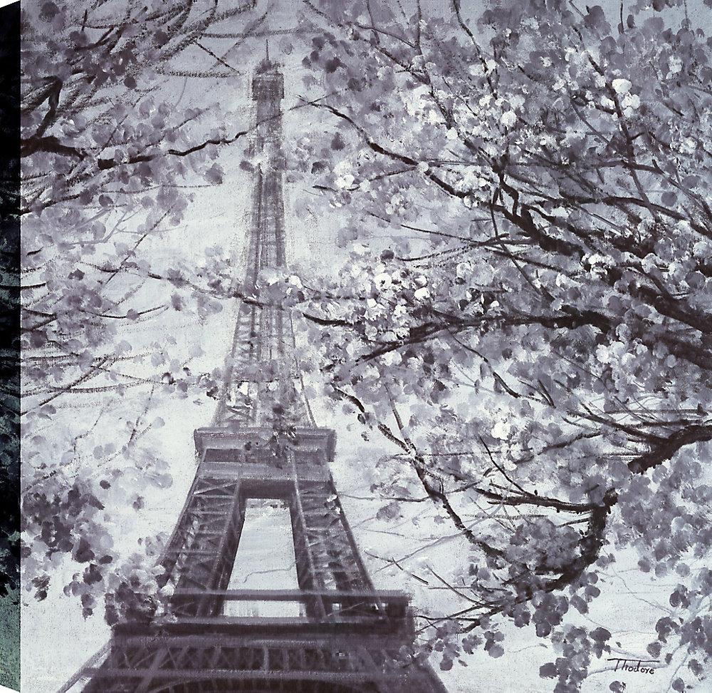 Eiffel II, Landscape Art, Canvas Print Wall Art 36X36 Ready to hang by ArtMaison.ca