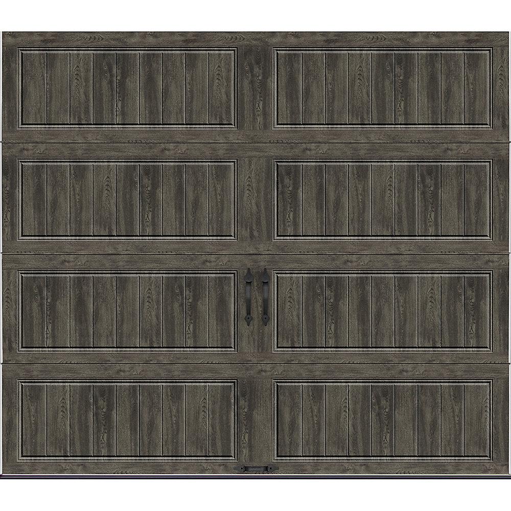 Porte de garage collection Gallery 8 pi x 7 pi Valeur «R» 18.4 isolant Intellicore Solide Ultra-Grain gris ardoise