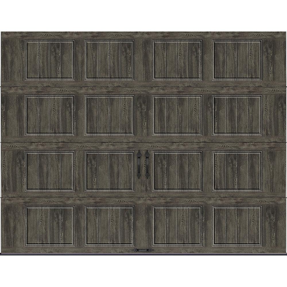 Collection Gallery 9 pi x 7 pi Porte de garage Valeur «R» 18.4 isolant Intellicore Solide Ultra-Grain gris ardoise