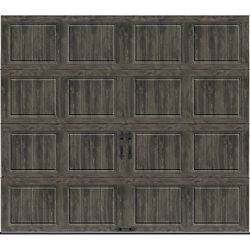 Clopay Gallery Collection 8 ft. x 7 ft. 6.5 R-Value Insulated Solid Ultra-Grain Slate Garage Door