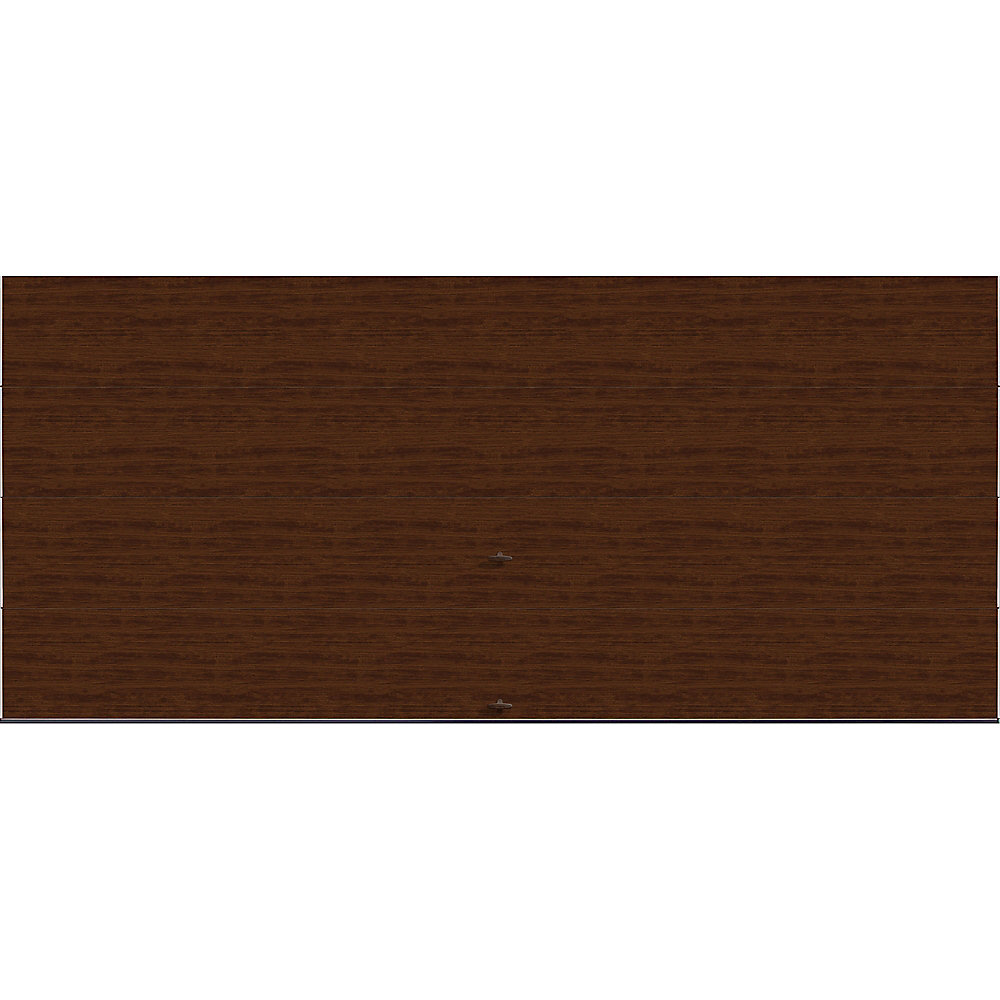 Modern Steel Collection 16 ft. x 7 ft. 9.0 R-Value Insulated Solid Walnut Finish Garage Door