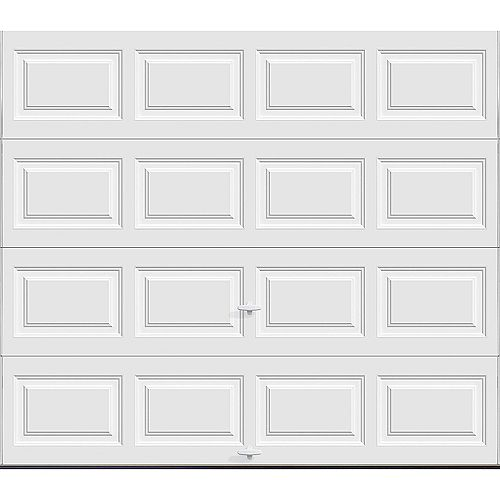 Clopay Classic Collection 8 ft. x 7 ft. 6.5 R-Value Insulated Solid White Garage Door