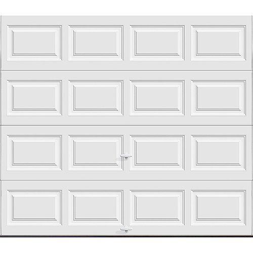 Clopay Collection Classique 9 pi x 7 pi Porte de garage Valeur «R» 6.5 isolée Solide Blanc