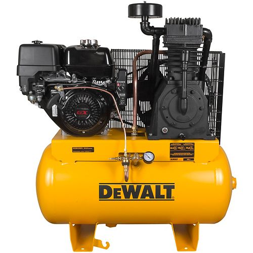 DEWALT 30 Gal. 2-Stage Portable Gas-Powered Truck Mount Air Compressor