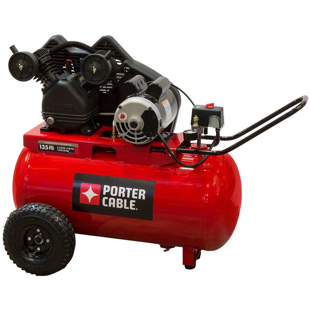PORTER-CABLE 20 Gal. Horizontal Portable Air Compressor