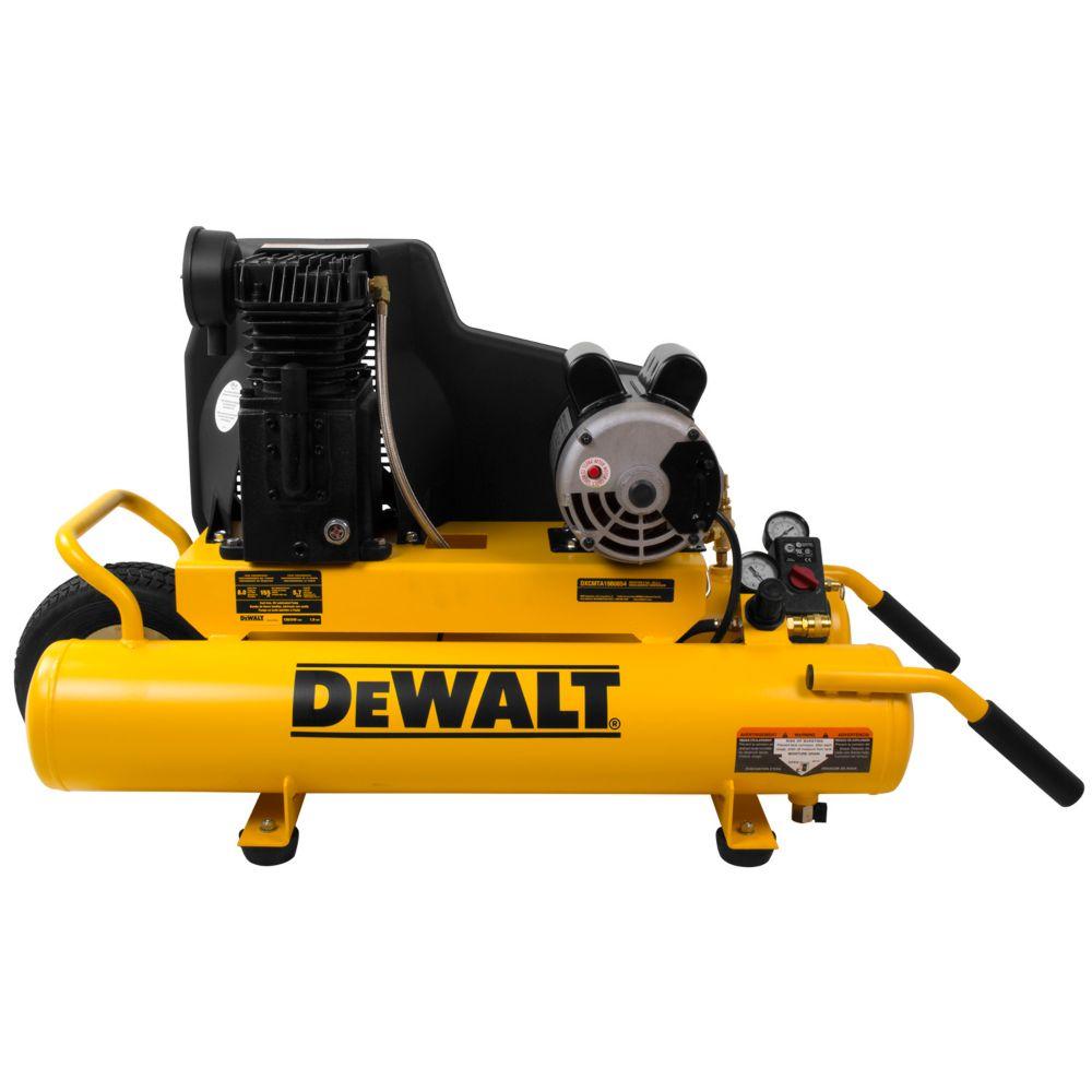 8 Gal. 155 PSI 1.9 HP Electric Dual Voltage Wheelbarrow Air Compressor