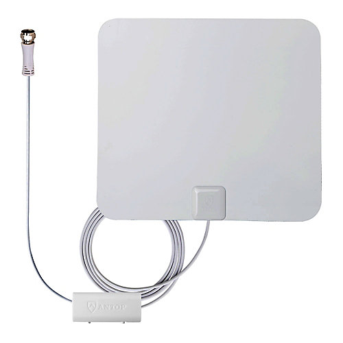 Paper Thin Smartpass Amplified Indoor HDTV Antenna - 50 Mile