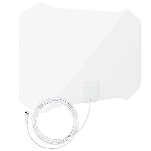 ANTOP Antenne Intérieur HDTV Mince Comme du Papier avec Support de Table SmartPass de - 35 Miles