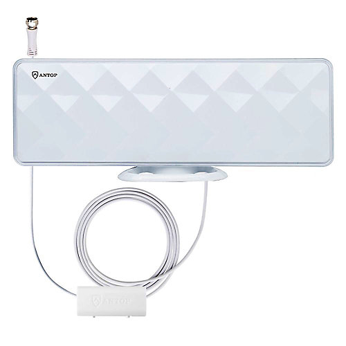 Flat-Panel Smartpass Amplified Indoor HDTV Antenna - 50 Mile