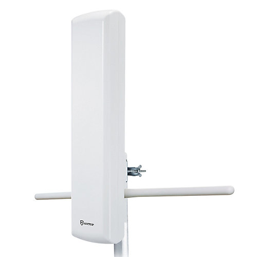Outdoor Amplified HDTV Panel Antenna with Smart Boost System, 85 Mile