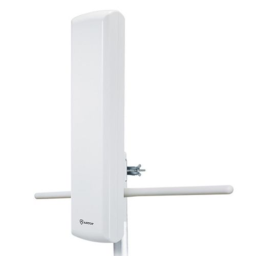 ANTOP Outdoor Amplified HDTV Panel Antenna with Smart Boost System, 85 Mile