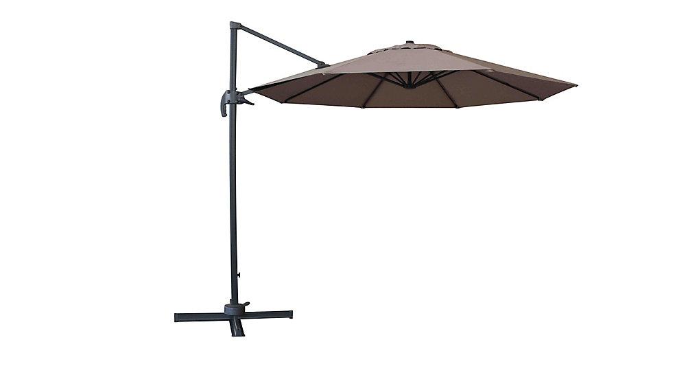 10 ft. Valencia Parapluie cantilever avec base en croix en acier moka