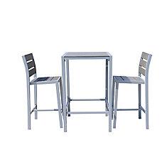 Vittore Ensemble de salle à manger pour terrasse en polyester avec 2 sièges