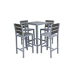 Vittore Ensemble de salle à manger pour terrasse en polyester avec 4 sièges