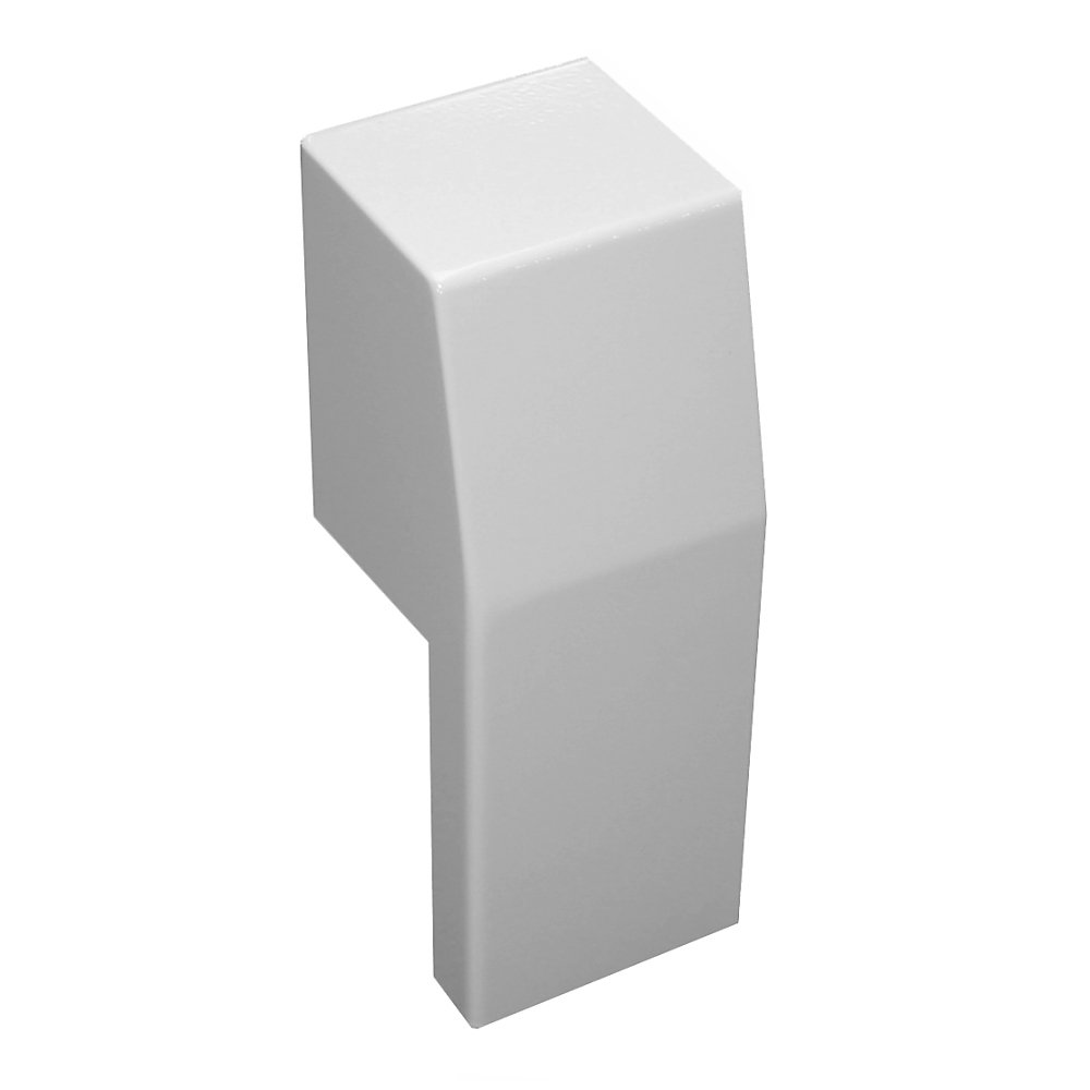 Premium Series Steel Easy Slip-On Baseboard Heater Cover Left Side Open End Cap in White