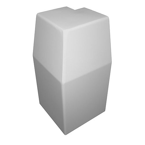 Baseboarders Premium Series Steel Easy Slip-On Baseboard Heater Cover Outside 90-Degree Corner in White