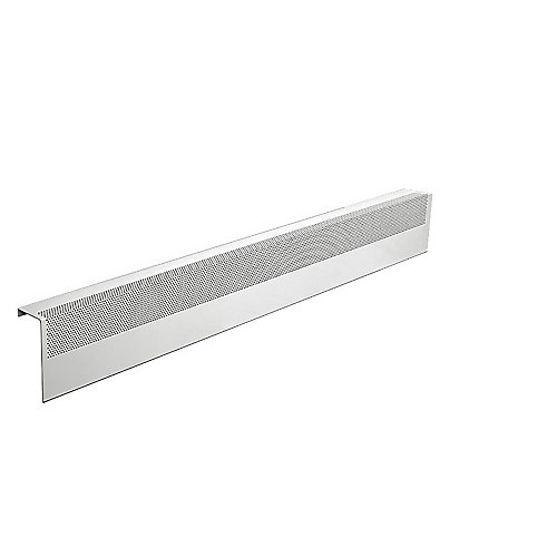 Basic Series 4 ft. Galvanized Steel Easy Slip-On Baseboard Heater Cover in White