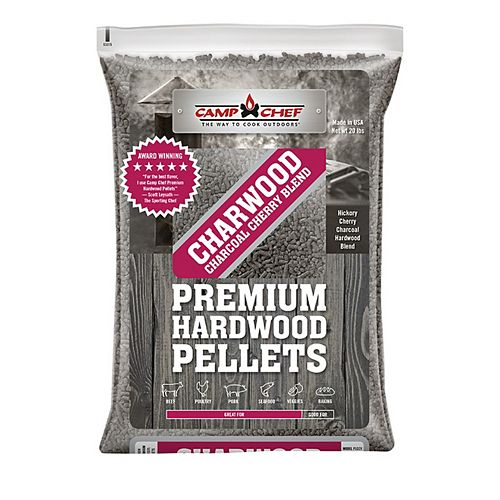 Camp Chef 3 Bags of Charwood Charcoal Cherry Blend Pellets (20 lbs./each bag)