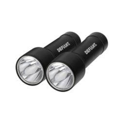 Defiant 2-Pack Aluminum Flashlights