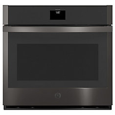 30-inch Single Electric Wall Oven with Convection Self-Cleaning in Black Stainless Steel