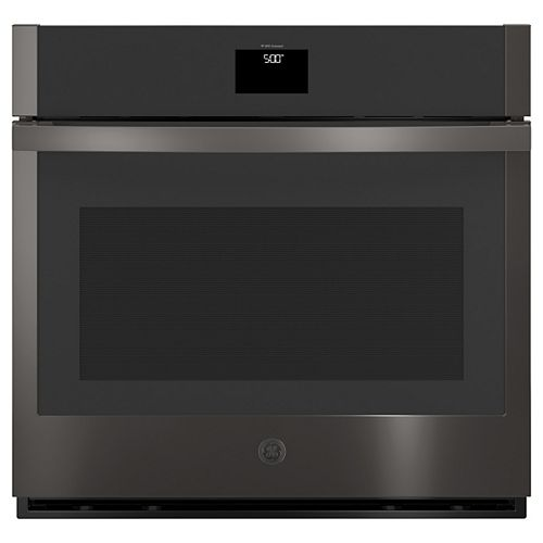 GE 30-inch Single Electric Wall Oven with Convection Self-Cleaning in Black Stainless Steel