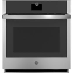 GE 27-inch Smart Single Electric Wall Oven with Convection Self-Cleaning in Stainless Steel