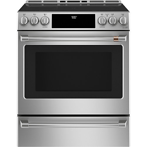 30-inch Slide-In Induction and Convection Range with Warming Drawer in Stainless Steel
