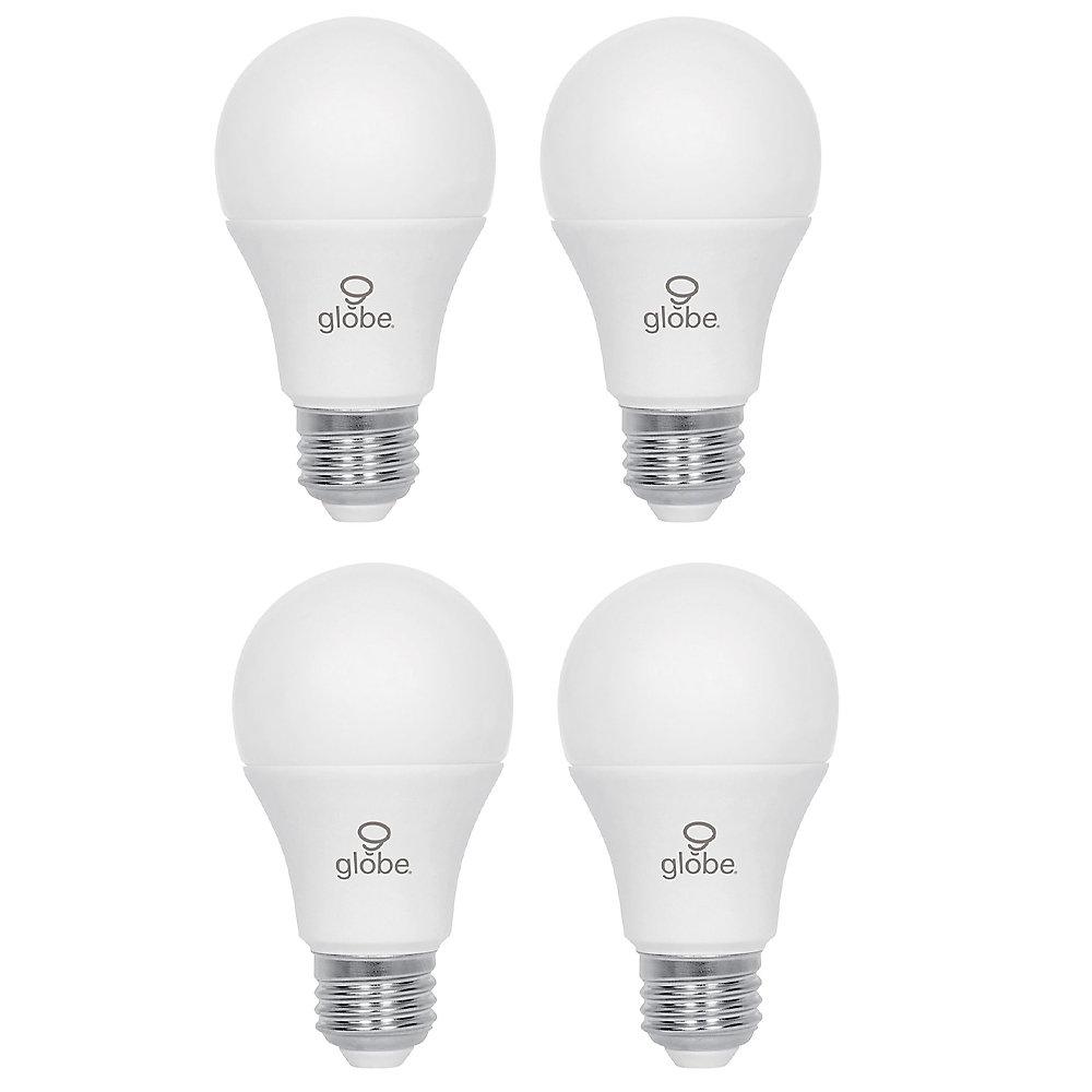 Ampoule DEL A19 non-gradable, équivalente à un éclairage de jour de 60W (5000K), paquet de 4