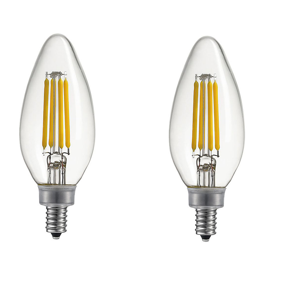 Ampoule DEL B11 candélabre gradable, équivalente à un éclairage blanc chaleureux de 40W, E12 Base