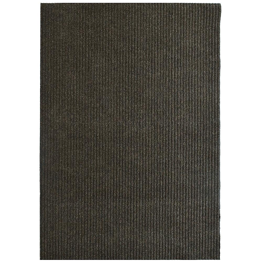 Tapis d'interieur/extérieur rectangulaire, 6 pi x 52 pi, Siamese, brun