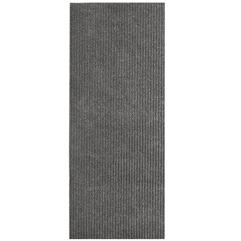 Tapis d'interieur/extérieur rectangulaire, 6 pi x 14 pi, Siamese, gris