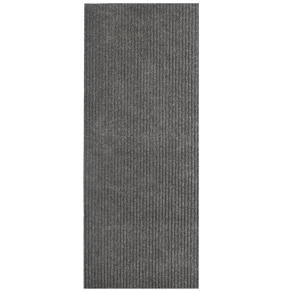 Tapis d'interieur/extérieur rectangulaire, 6 pi x 28 pi, Siamese, gris