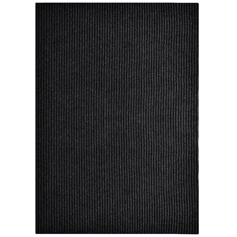 Tapis d'interieur/extérieur rectangulaire, 3 pi x 64 pi, Siamese, noir
