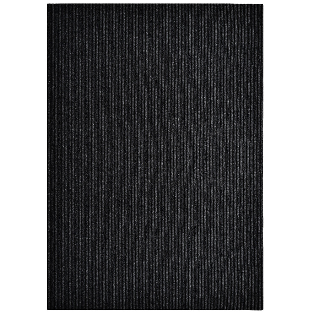 Tapis d'interieur/extérieur rectangulaire, 6 pi x 14 pi, Siamese, noir
