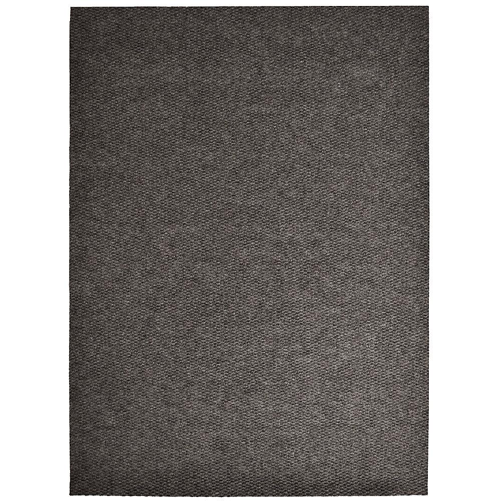Tapis d'interieur/extérieur rectangulaire, 6 pi x 14 pi, Impact Popcorn, brun