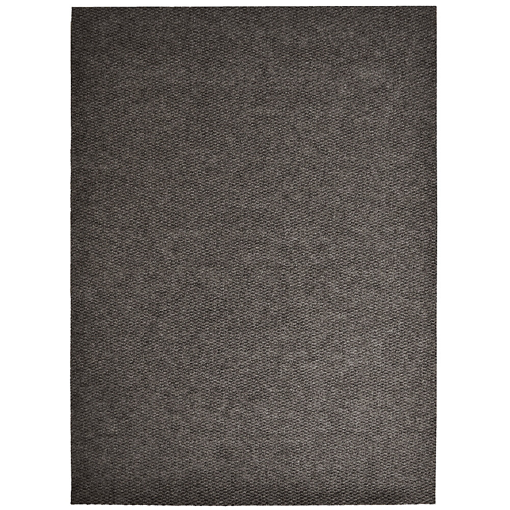Impact Popcorn Brown 6 ft. x 68 ft. Rectangular Indoor / Outdoor Area Rug
