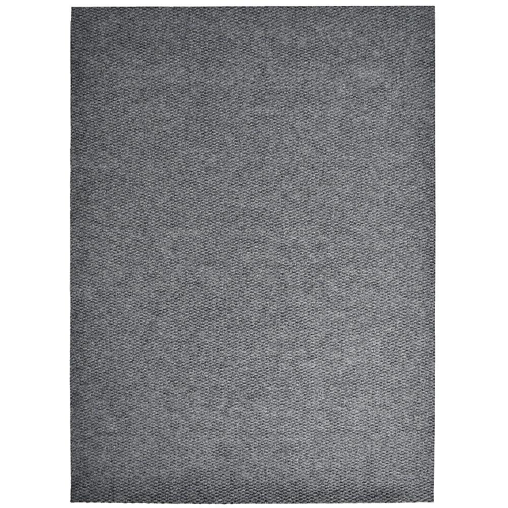 Tapis d'interieur/extérieur rectangulaire, 4 pi x 48 pi, Impact Popcorn, gris