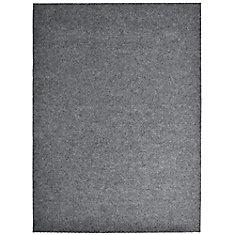 Impact Popcorn Grey 6 ft. x 8 ft. Rectangular Indoor / Outdoor Area Rug