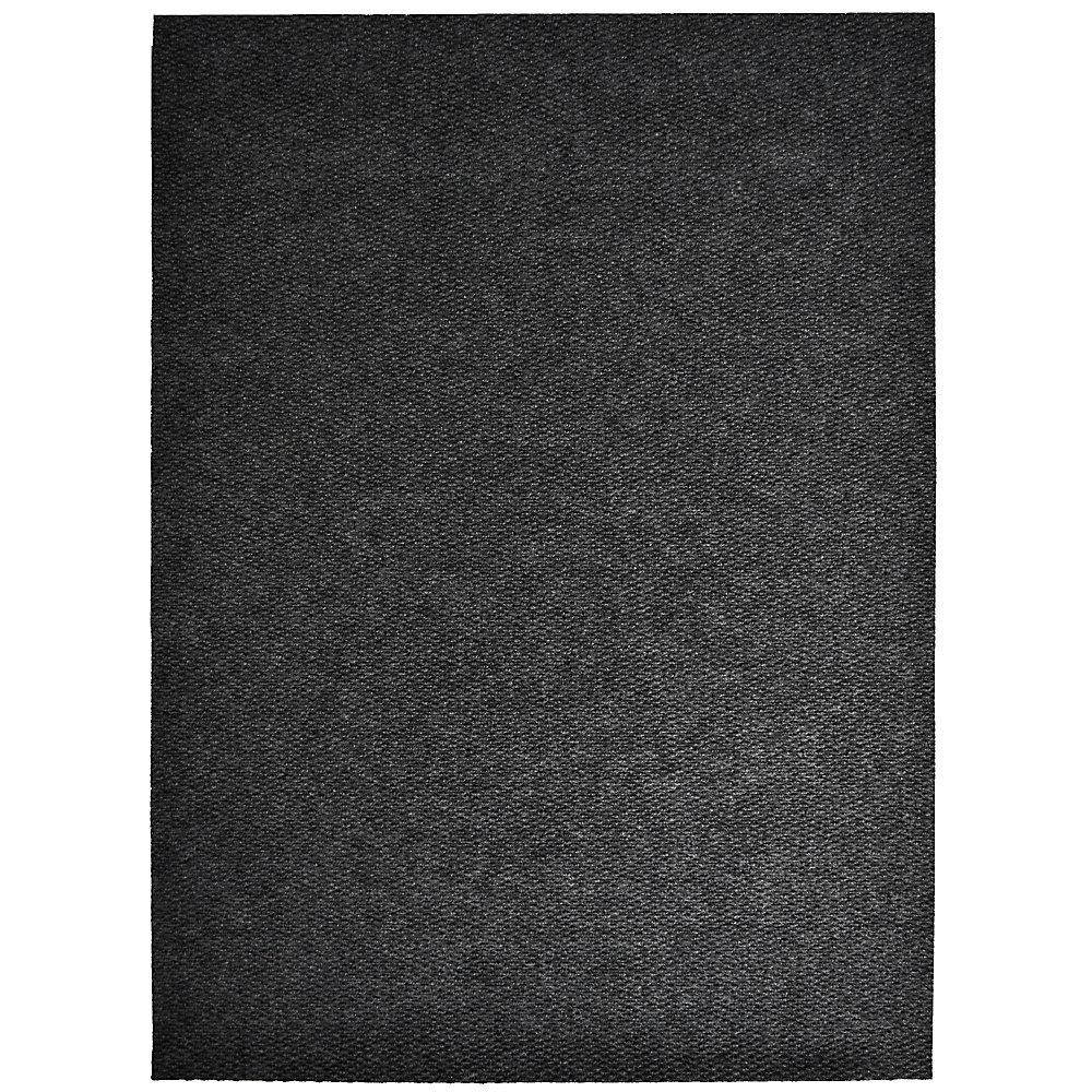 Tapis d'interieur/extérieur rectangulaire, 4 pi x 14 pi, Impact Popcorn, noir