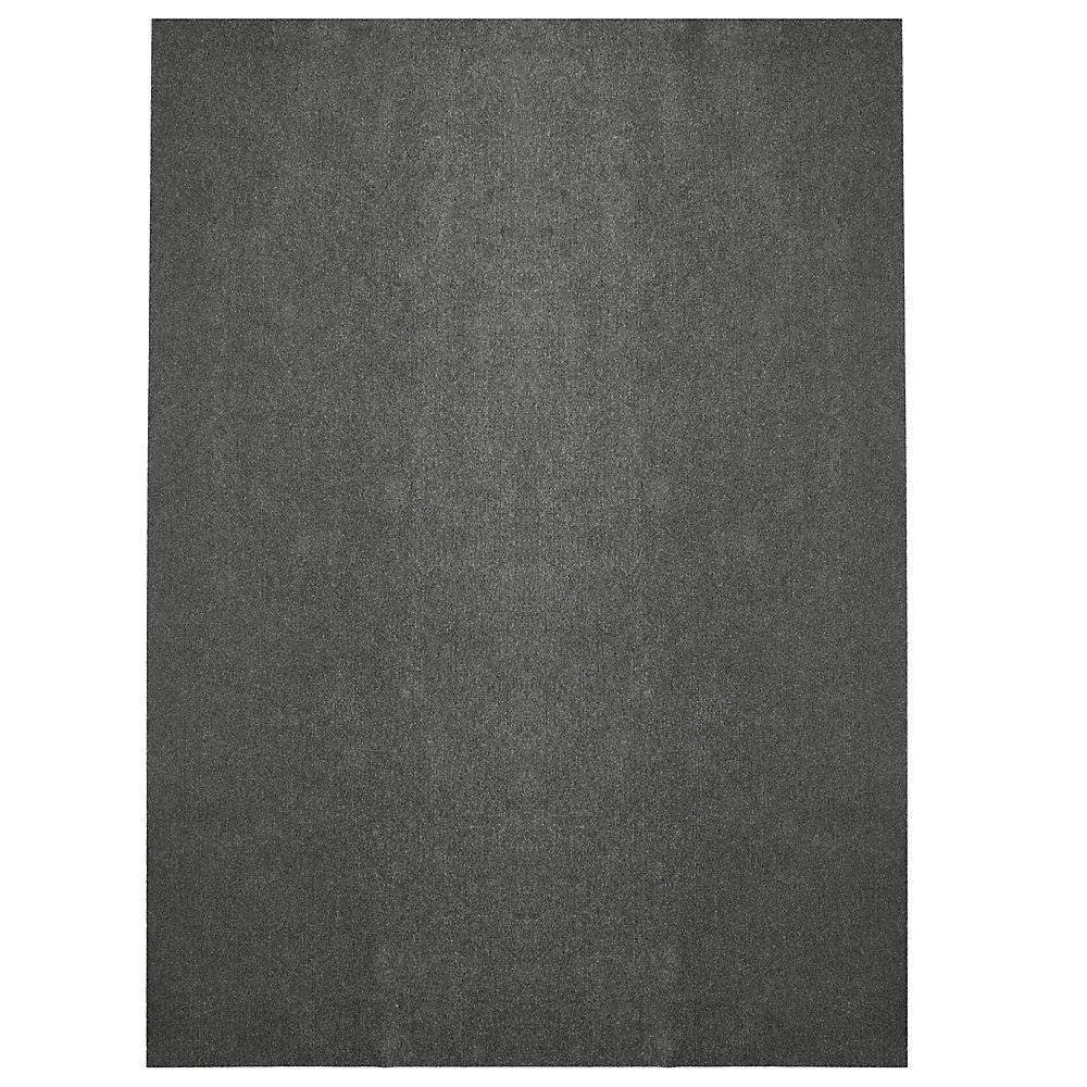 Tapis d'intérieur /extérieur, 12 pi x 15 pi, Opus, gris