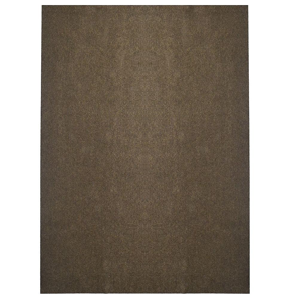 Tapis d'intérieur /extérieur, 12 pi x 24 pi, Opus, brun