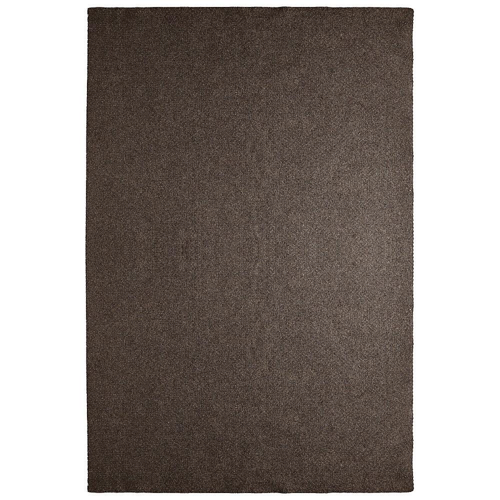 Tapis d'intérieur /extérieur, 12 pi x 21 pi, Solution, brun